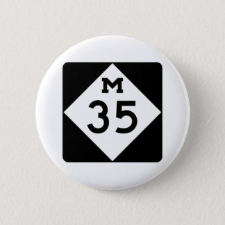 Michigan M-35 6 Cm Round Badge
