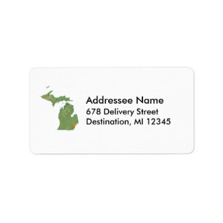 Michigan Map Address Label