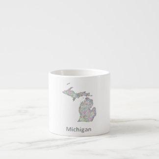 Michigan map espresso cup