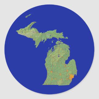 Michigan Map Sticker