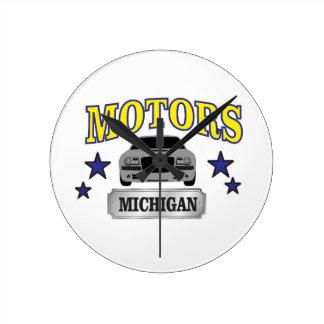 Michigan motors round clock