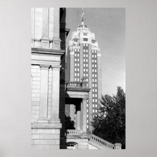 Michigan National Building Poster