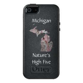 Michigan Nature's High Five Phone Case, White Pine OtterBox iPhone 5/5s/SE Case