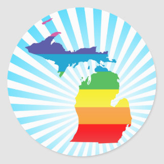 michigan pride. classic round sticker