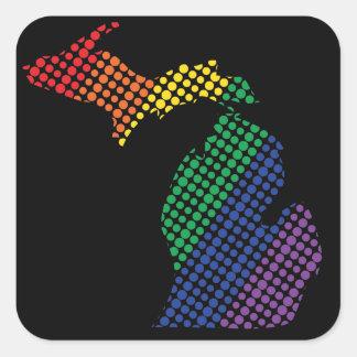 Michigan Rainbow State Square Sticker