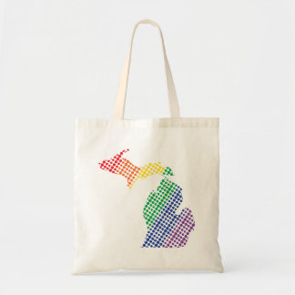 Michigan Rainbow State Tote Bag