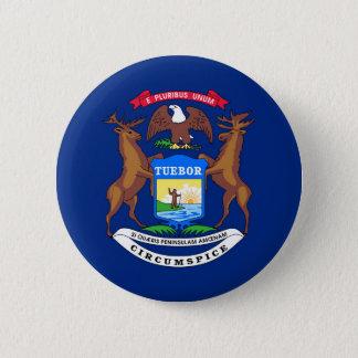 Michigan state flag usa united america symbol 6 cm round badge