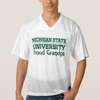 Michigan State MSU Proud Grandpa Jersey T-shirt