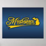 Michigan State of Mine Poster