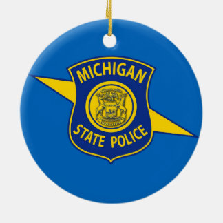 Michigan State Police Ornament