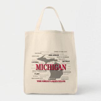 Michigan State Pride Map Silhouette Tote Bag