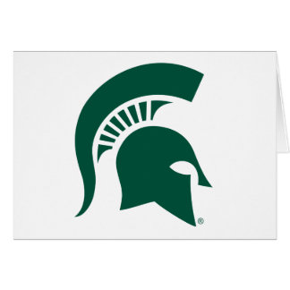 Michigan State University Spartan Helmet Logo Card