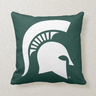 Michigan State University Spartan Helmet Logo Cushion