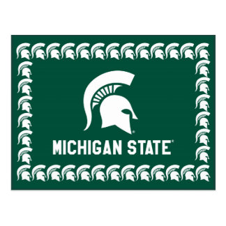 Michigan State University Spartan Helmet Logo Postcard