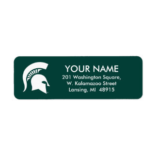 Michigan State University Spartan Helmet Logo Return Address Label