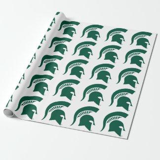 Michigan State University Spartan Helmet Logo Wrapping Paper