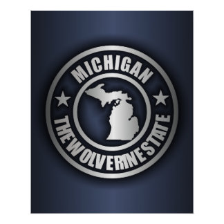 """Michigan Steel"" Posters & Prints (Blue)"