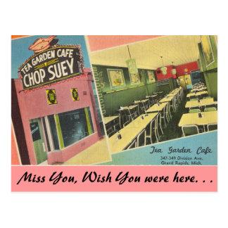 Michigan, Tea Garden Cafe, Grand Rapids Postcard