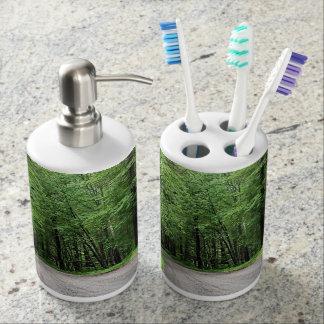 Michigan Toothbrush Holder Soap Dispenser Set
