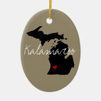 Michigan Town Ceramic Ornament