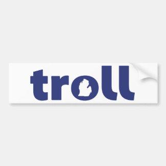 Michigan Troll Bumper Sticker