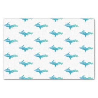 Michigan Upper Peninsula Aqua White Tissue Paper