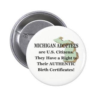 Michigan: US Citizen 6 Cm Round Badge