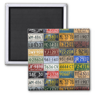 Michigan Vintage License Plates Collection Magnet