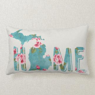 Michigan Watercolor | Shabby Roses | HOME Lumbar Pillow