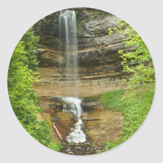 Michigan Waterfalls Classic Round Sticker