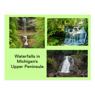 Michigan Waterfalls Postcard