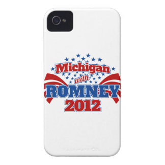 Michigan with Romney 2012 Case-Mate iPhone 4 Case