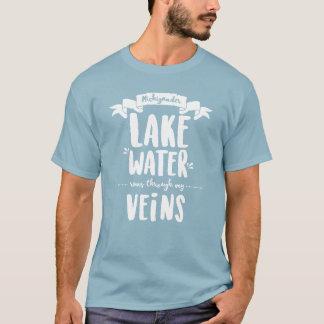 Michigander - Lake Water Runs Thru My Veins T-Shirt