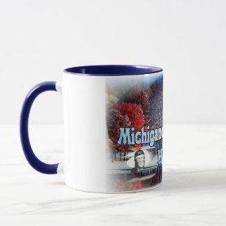 Michigander Man Fall Snow Mug