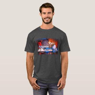 Michigander Man Fall Snow T-Shirt