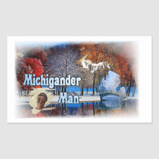 Michigander Man Stickers! Rectangular Sticker
