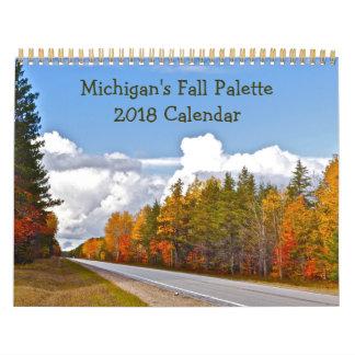 """""""MICHIGAN'S FALL PALETTE"""" 2018 CALENDAR"""