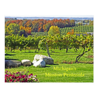 MICHIGAN'S OLD MISSION PENINSULA IN FALL POSTCARD