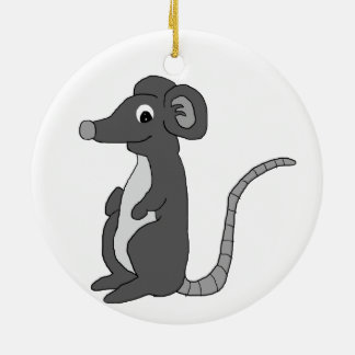 """""""Mick"""" the mouse (black and white) Round Ceramic Decoration"""