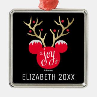 Mickey Christmas Joy | Add Your Name Metal Ornament