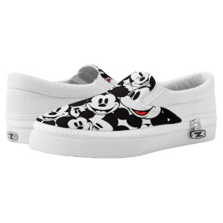 Mickey & Friends | Classic Mickey Pattern Slip On Shoes