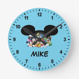 Mickey & Friends | Group in Mickey Ears Round Clock