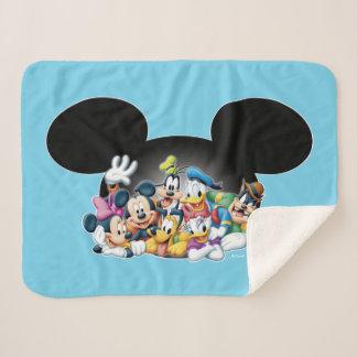 Mickey & Friends | Group in Mickey Ears Sherpa Blanket