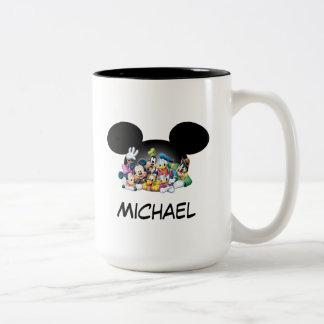 Mickey & Friends | Group in Mickey Ears Two-Tone Coffee Mug
