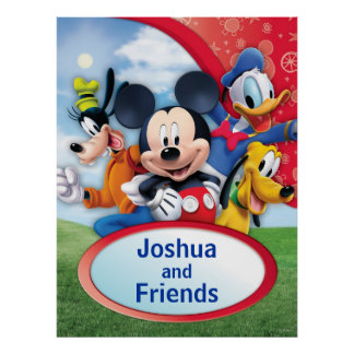 Mickey & Friends   Mickey Customizable Poster