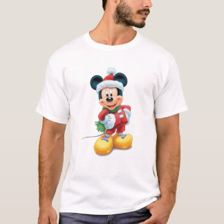 Mickey & Friends Mickey in Santa Hat T-Shirt
