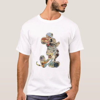 Mickey & Friends Mickey sketch comic composite T-Shirt