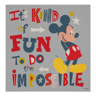 Mickey   Fun To Do The Impossible Poster