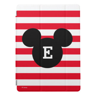 Mickey Head Silhouette Striped Pattern | Monogram iPad Pro Cover