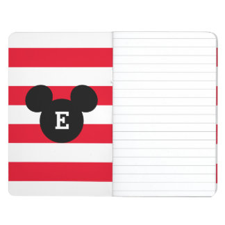 Mickey Head Silhouette Striped Pattern | Monogram Journal